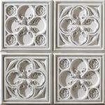 PR-1000 Alhambra italienisches weiss Vintage Panel Piedra