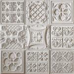 PR-1061 Versalles weiss veraltet Vintage Panel Piedra